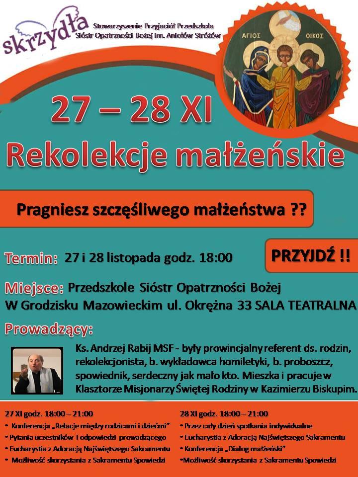 Rekolekcje małżeńskie w Grodzisku Mazowieckim